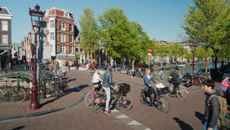 Pedestrian-Car-and-Bike-Traffic-Amsterdam