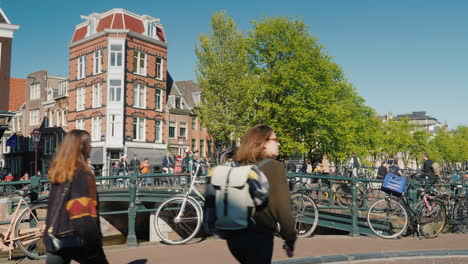 Pedestrian-and-Bike-Traffic-Amsterdam