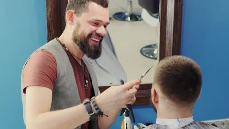 Barber-Laughing-And-Joking-With-Client-In-Barbershop
