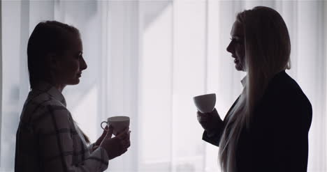Two-Businesswomen-Taking-Short-Coffee-Break-In-Ofiice-Consulting-Project-Business-Concept-1