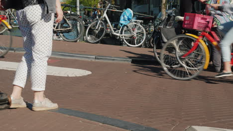 Bicyclists-And-Pedestrians-in-Amsterdam