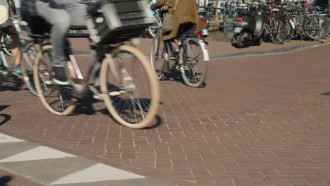 Bike-Wheels-on-Amsterdam-Street