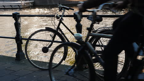 The-Bicycle-by-Canal-Railings-Amsterdam