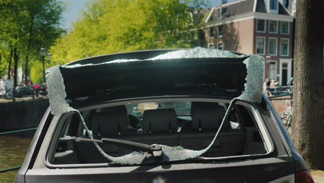 Car-With-A-Broken-Rear-Window