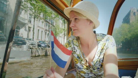 A-Woman-on-Amsterdam-Cruise