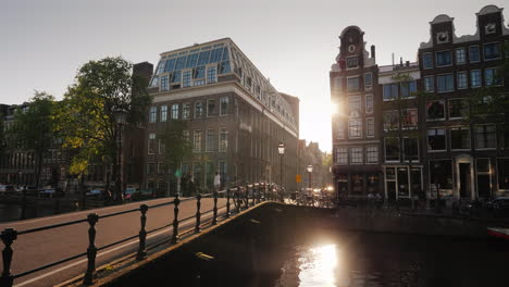 A-Beautiful-Sunset-In-Amsterdam