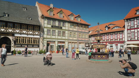 The-Central-Square-Fountain-in-Wernigerode