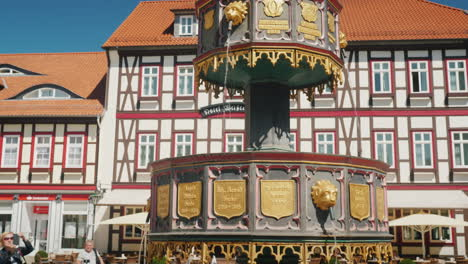 Fountain-in-Small-German-Town