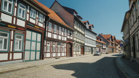 Picturesque-Street-in-Small-German-Town