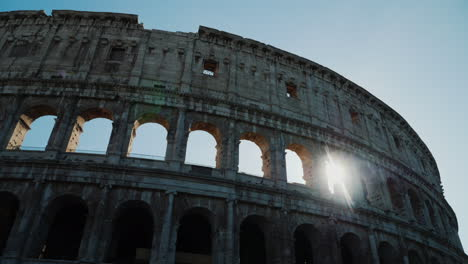 Sun-Shines-Through-Colosseum-Arches-Rome