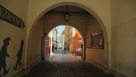 Arch-And-Walkway-in-Polish-Town