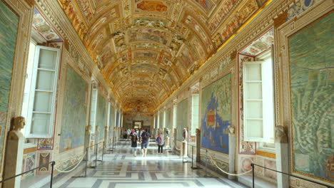 Tourists-Visiting-A-Gallery-In-The-Vatican-Museum