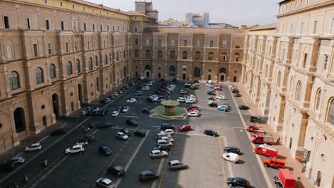 Vatican-Courtyard-Car-Park-From-Above