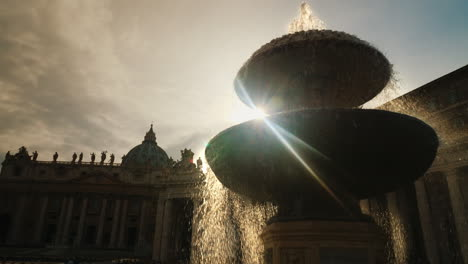 Fountain-In-Courtyard-Of-St-Peter-s-Basilica