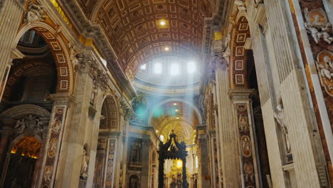 Rays-Of-Sunlight-in-St-Peter-s-Church-Rome