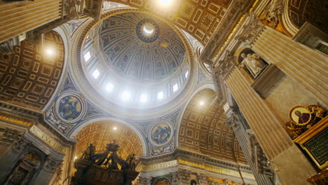 St-Peter-s-Basilica-Ceiling-in-Rome