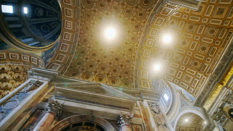 Domed-Interior-of-St-Peter-s-Basilica-in-The-Vatican