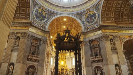 Baldachin-and-Dome-in-St-Peter-s-Basilica-Rome