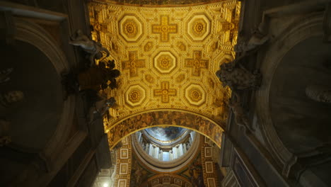 Decorated-Ceiling-of-St-Peter-s-Basilica