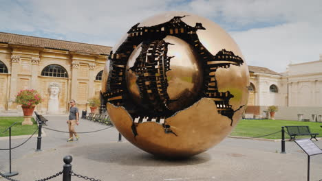 Sphere-Within-A-Sphere-Bronze-Sculpture