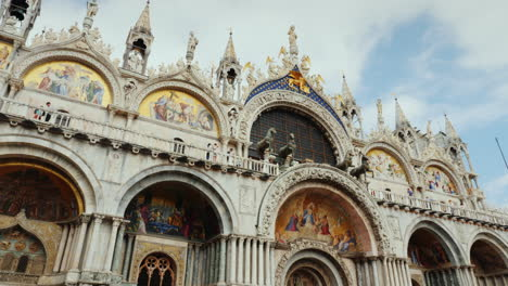 Facade-Of-St-Mark-s-Cathedral-In-Venice