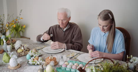 Happy-Easter-Grandfather-And-Granddaughter-Spending-Easter-Together-At-Home-6