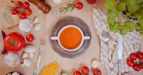 Various-Ingredients-Assorted-On-Wooden-Table
