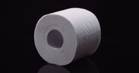 Toilet-Paper-Isolated-On-Black-Background-Rotating-
