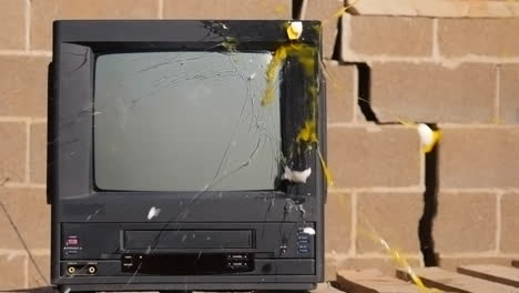 Egg-Thrown-at-Old-TV