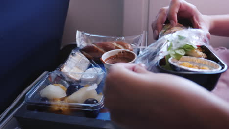 Woman-Opens-Airline-Meal