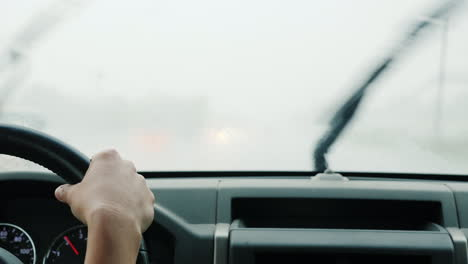 Driving-Through-Heavy-Rain