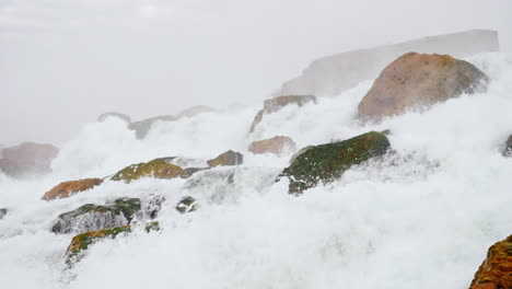 Foaming-Water-Crashing-On-Rocks