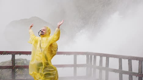 Woman-Admires-Power-of-Niagara-Falls