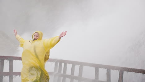 Happy-Woman-by-Niagara-Falls