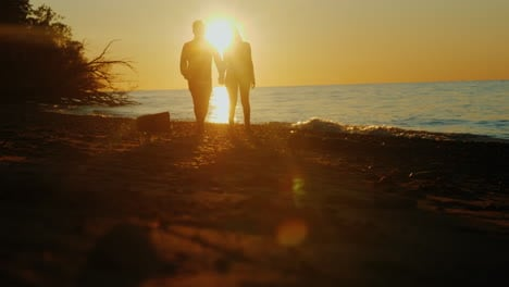 Romantic-Beach-Walk-at-Sunset