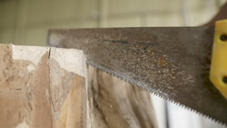 Carpenter-Cutting-Wood-With-Handsaw-In-Workshop-5