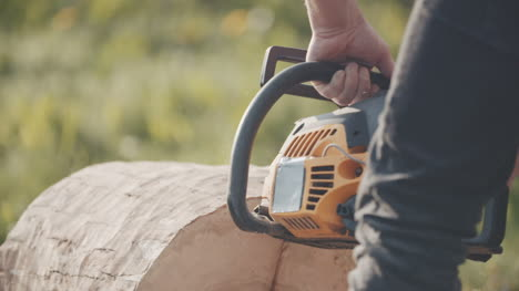 Man-Cutting-Trunk-With-Chainsaw