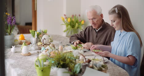 Happy-Easter-Grandfather-And-Granddaughter-Spending-Easter-Together-At-Home-7