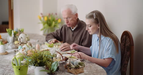 Happy-Easter-Grandfather-And-Granddaughter-Spending-Easter-Together-At-Home-8