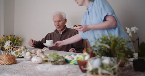 Happy-Easter-Grandfather-And-Granddaughter-Spending-Easter-Together-At-Home-9