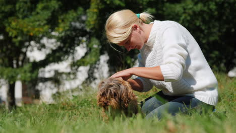 Woman-Treats-A-Dog-s-Skin-for-Fleas