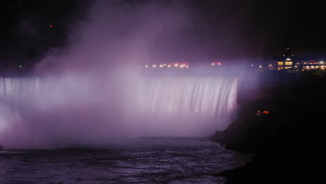 Canadian-Niagara-Falls-Lit-Up-at-Night