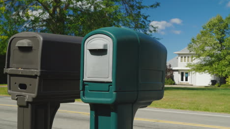 Two-Mailboxes-in-Typical-American-Suburb
