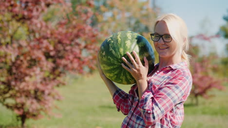 Woman-Holding-a-Watermelon