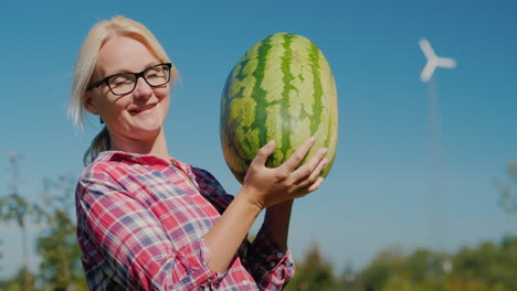Happy-Woman-Holding-Watermelon