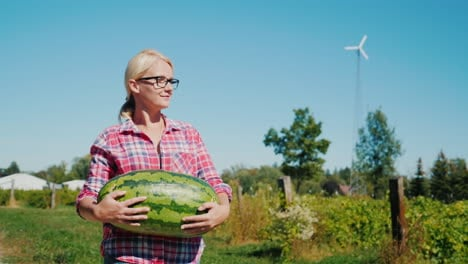 Woman-Carrying-Watermelon