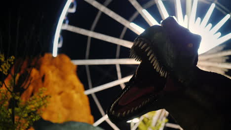 Model-Dinosaur-and-Volcano-by-Ferris-Wheel