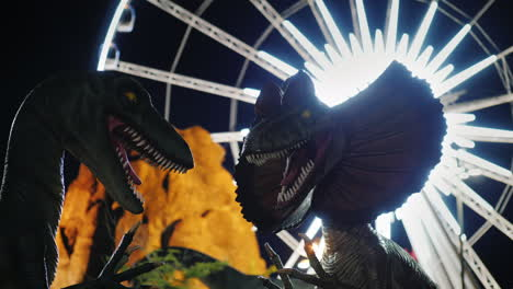 Model-Dinosaurs-in-Fairground