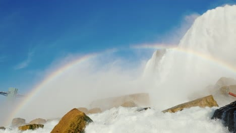 Rainbow-at-base-of-Niagara-Falls