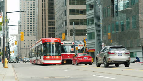 Trams-in-Downtown-Toronto